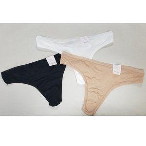 Auden Intimates & Sleepwear - auden LOT OF 3 // Black White Tan Mesh SOFT Thongs